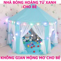 Nhà Banh Xanh Hoàng Tử Cho Bé