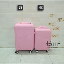 Vali kéo nhựa dẻo Hello Kitty - hồng phấn - size 26