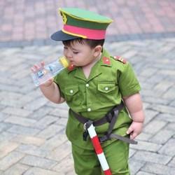 Quần áo công an trẻ em đầy đủ phụ kiện - Có size 1 - 12