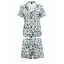 Bộ ngủ pyjama ghi hoa