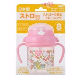 Bình nước vòi hút Hello Kitty cao cấp thích hợp cho bé từ 8 tháng