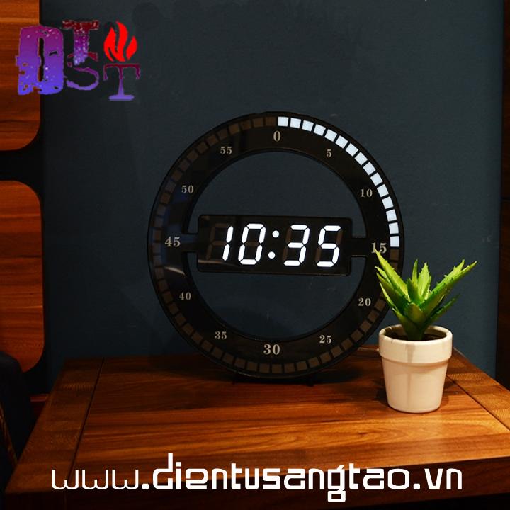 Đồng hồ LED viền 3D 1
