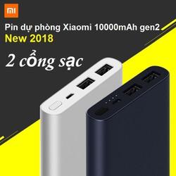 PIN DỰ PHÒNG XIAO MI 10000MAH GEN2 NEW 2018