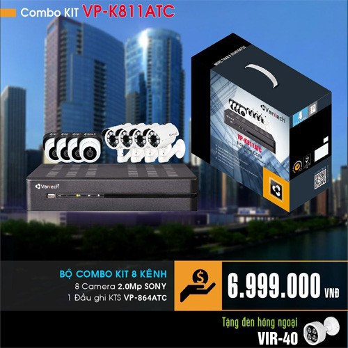 Combo KIT Vantech VP-K811ATC