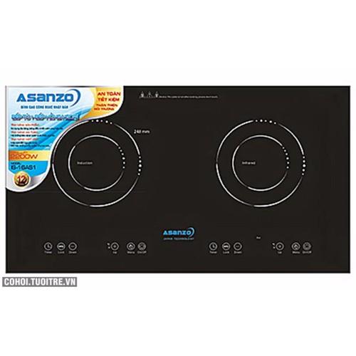 Bếp đôi bếp từ + bếp hồng ngoại ASANZO IS-16AS1
