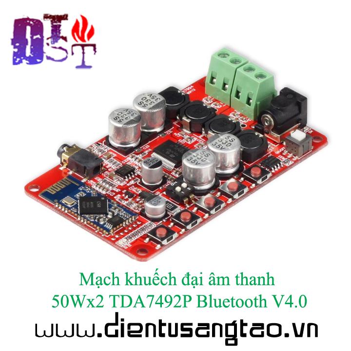 Mạch khuếch đại âm thanh 50Wx2 TDA7492P Bluetooth V4.0