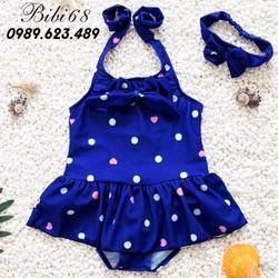 Đồ bơi cho bé 1-6 tuổi chấm bi kiểu dáng Hàn Quốc B01X