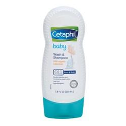 Sữa tắm lotion dưỡng da Organic Cetaphil Baby Wash Shampoo