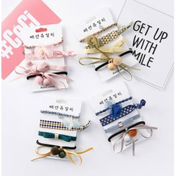 Set cột tóc thời trang Hàn Quốc