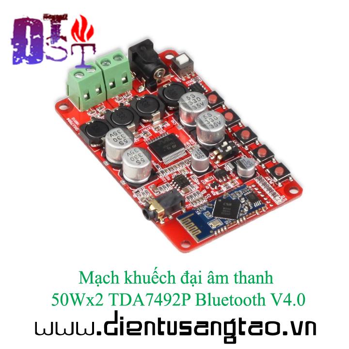 Mạch khuếch đại âm thanh 50Wx2 TDA7492P Bluetooth V4.0 13