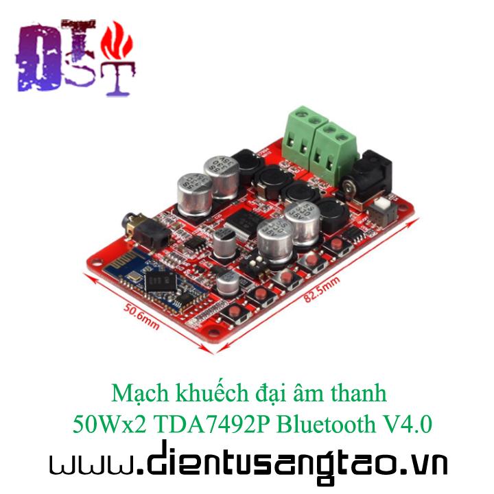 Mạch khuếch đại âm thanh 50Wx2 TDA7492P Bluetooth V4.0 11