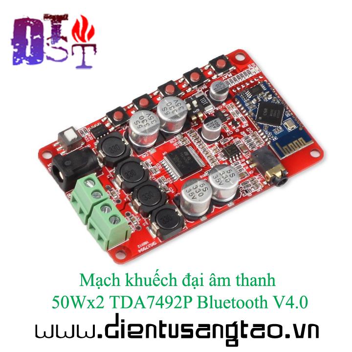 Mạch khuếch đại âm thanh 50Wx2 TDA7492P Bluetooth V4.0 3