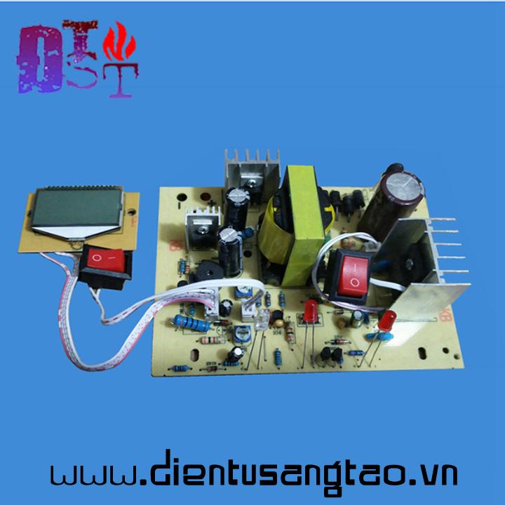 Mạch sạc acquy tự động nhận bình 12,24v 200Ah hiển thị LCD có bảo vệ 2