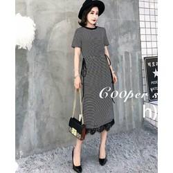 Đầm suông cotton phối ren dịu dàng nữ tính