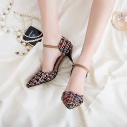 Giày nữ  cao gót chất liệu da tổng hợp - mã GM009