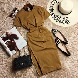 Đầm body cotton nhũ kim tuyến