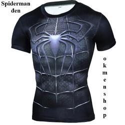 Áo tập gym người nhện Spiderman màu đen
