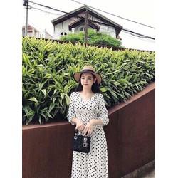 Đầm xoè chấm bi chiết eo cực xinh