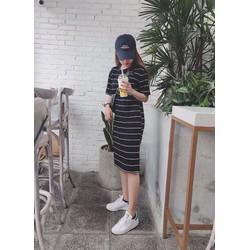 Đầm Maxi Kẻ Sọc