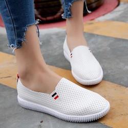 Giày slip on nữ phối sọc cực đẹp