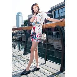 Hàng nhập - Sét áo thun + chân váy họa tiết