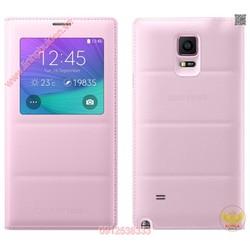 Bao da S-View Samsung galaxy Note 4 chính hãng màu hồng