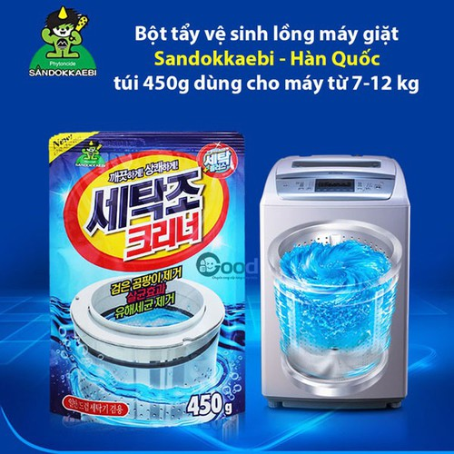 Gói bột tẩy vệ sinh lồng máy giặt 450g hàn quốc - 6569428 , 13227359 , 15_13227359 , 78000 , Goi-bot-tay-ve-sinh-long-may-giat-450g-han-quoc-15_13227359 , sendo.vn , Gói bột tẩy vệ sinh lồng máy giặt 450g hàn quốc