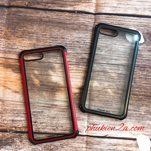 Ốp lưng iPhone 7 Plus,8 Plus chống sốc kính cường lực viền kim loại - 5719655 , 9686809 , 15_9686809 , 300000 , Op-lung-iPhone-7-Plus8-Plus-chong-soc-kinh-cuong-luc-vien-kim-loai-15_9686809 , sendo.vn , Ốp lưng iPhone 7 Plus,8 Plus chống sốc kính cường lực viền kim loại