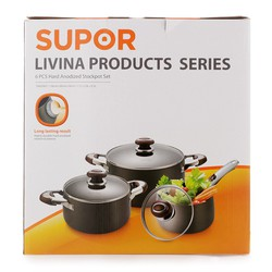 Bộ nồi canh oxy hóa cứng Supor Livina TW07007