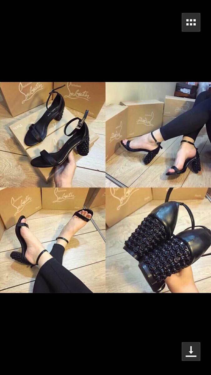 Giày sandal cao gót da mềm gót đinh 9
