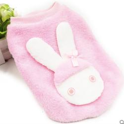 Áo con thỏ cho chó mèo A56 Hồng size M