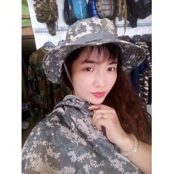 Mũ nón tai bèo lính Mỹ màu rằn ri cực chất hình chụp thật tại shop
