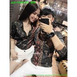 Sơ mi cặp đôi tình nhân in hoa văn thời trang SMD255