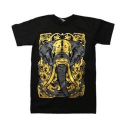 Combo 20 Áo thun 3D Thái Lan hình voi chiến binh nhũ vàng T0140-01