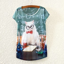 Áo thun kute in hình mèo