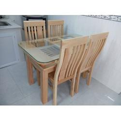 0934063236 Bàn ăn gỗ sồi Nga bàn 4 ghế 3.9 triệu, bộ bàn 6 ghế 4.9tr