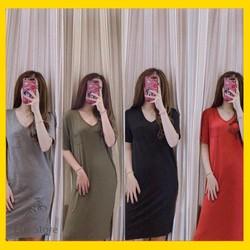 Váy Xuông Cổ Tim chất mát cho mùa hè 2018