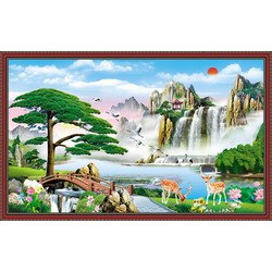 Tranh dán tường 3D VTC Sơn thủy hữu tình LunaTM-0170K KT 150 x 90 cm