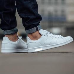 Giày Sneaker Nam Nữ Thời Trang Smith SF Trắng Full