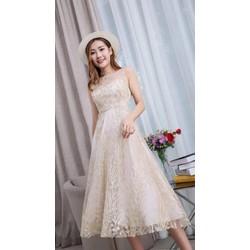 Đầm ren công chúa xinh lung linh