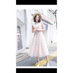 Đầm xoè ren công chúa xinh lung linh