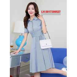 sơ mi Đầm xòe thời trang Hàn Quốc R16AD18