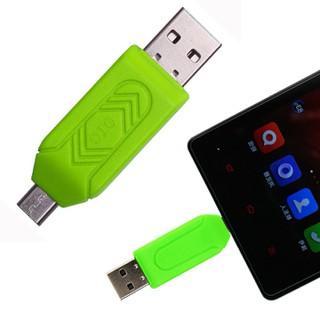 Đầu Đọc Thẻ Nhớ TF SD OTG 2 Trong 1 Đầu Cắm Kép USB màu xanh LÁ - ĐTNHOTGX thumbnail