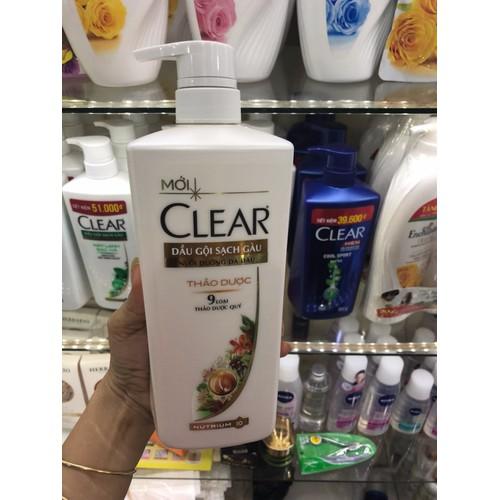DẦU GỘI CLEAR THẢO DƯỢC 650ML