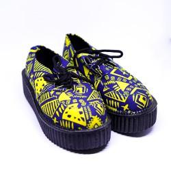 [Sale cực rẻ] Giày bánh mì nữ họa tiết thổ cẩm-F5462