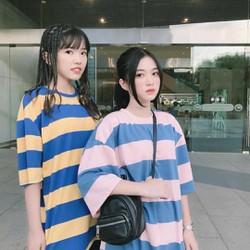Áo thun sọc 2 màu ngọt ngào