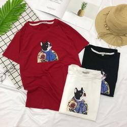 Áo T shirt nữ in hình chó