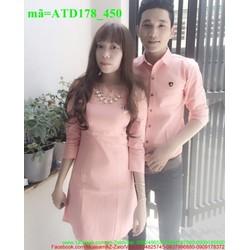 Set áo váy cặp tình nhân phong cách yêu thương ATD178