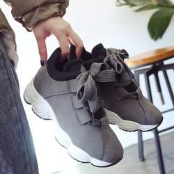 Giày Sneaker Mẫu Mới - Đế gợn sóng - Cao su mêm êm - Độn đế 5cm