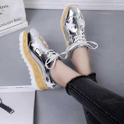Giày bata bánh mì ngôi sao bạc